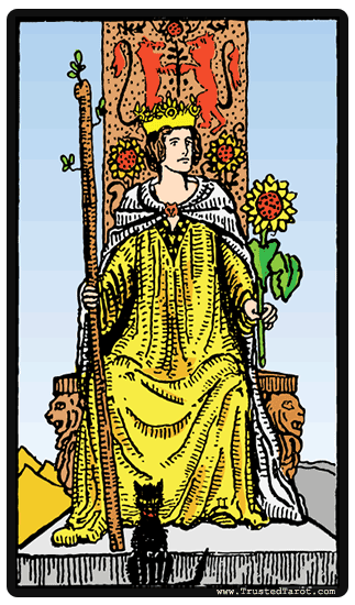 lá queen-of-wands tarot